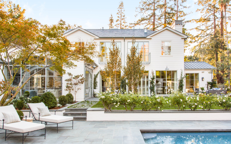 image result for traditional modern farmhouse backyard pool California renovation Giannetti
