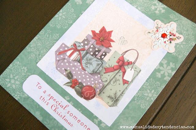 Tarjeta de Navidad scrapbooking Christmas