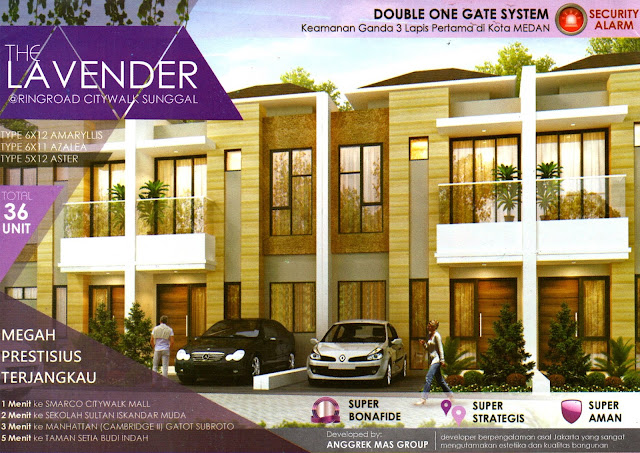 Jual Rumah Siap Huni Di Belakang Ring Road City Walk Medan Kompleks The Lavender