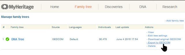 export MyHeritage family tree