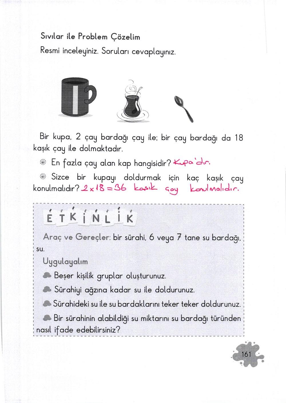 2. Sınıf Açılım Yayınları Matematik Ders Kitabı 161. Sayfa Cevapları