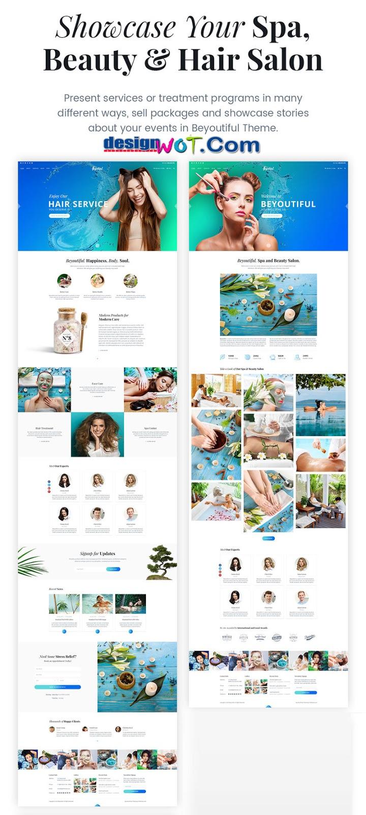 Spa Beauty and Hair Salon WordPress Theme - Beyoutiful