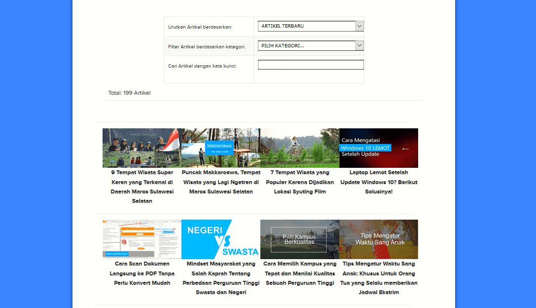 cara membuat sitemap blog responsive dan keren