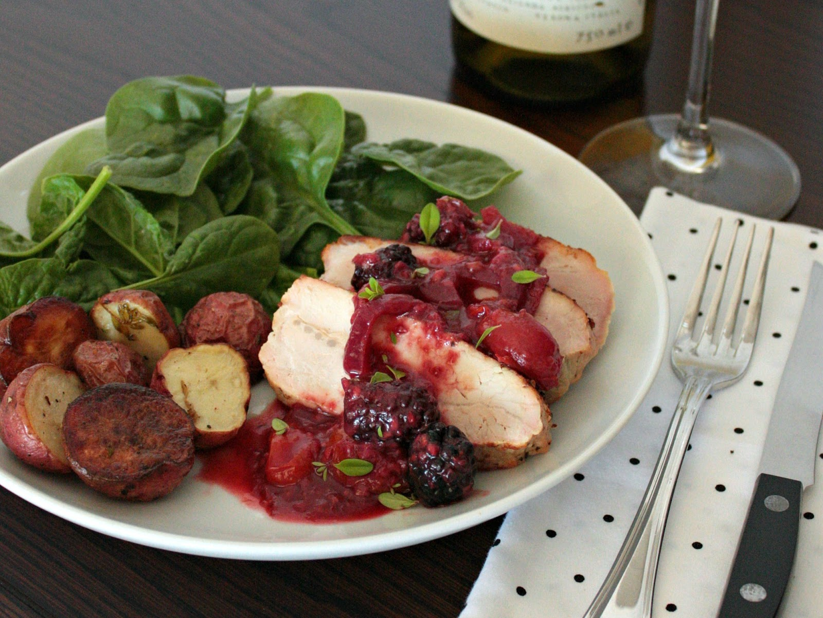 pork tenderloin blackberry sauce