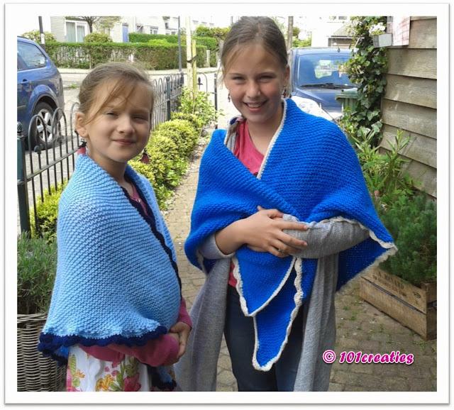 Omslagdoek breien voor kinderen