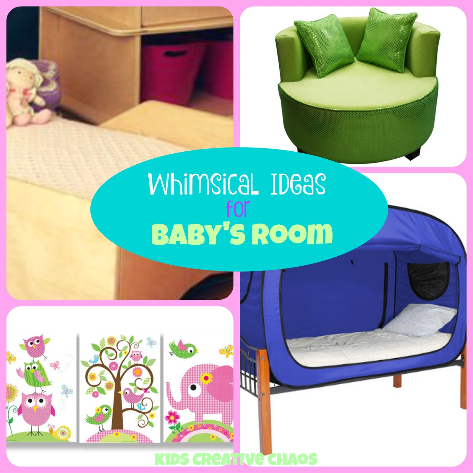 Whimsical Kids Decor For The Nursery Baby Or Toddler Room