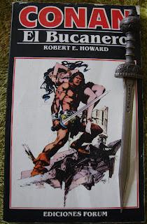Portada del libro Conan el bucanero, de Lin Carter y Sprague de Camp