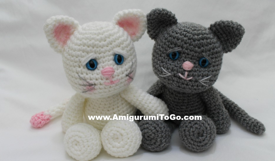Making The Eye Indents And Cheeks For Lbf Kitty Amigurumi To Go