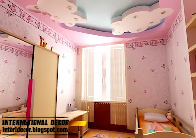 Best creative kids room ceilings design ideas, cool false ceiling of plasternoard