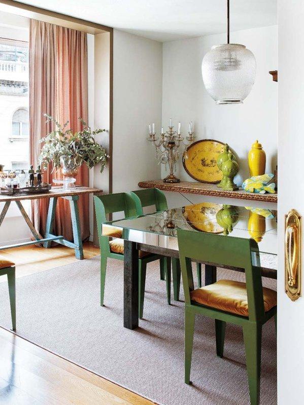 mesa comedor con sobre de espejo chicanddeco