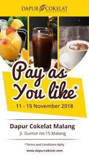 "Promo ""Pay as you like"" di Dapur Cokelat"