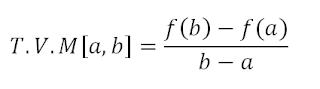 tasa de variacion media formula
