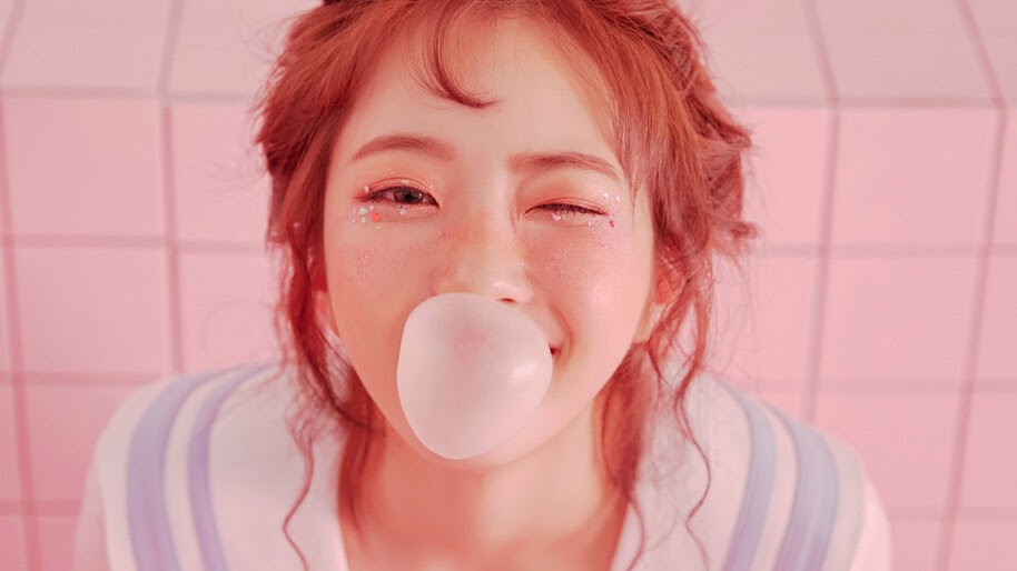 Hyeseong, Elris, K-Pop, Girl, Wink, Bubble Gum, 4K, #6.847