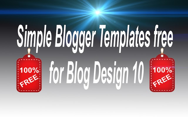 Simple Blogger Templates free for Blog Design 10
