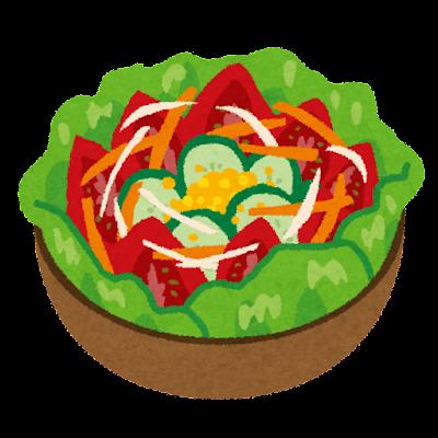 野菜サラダのイラスト