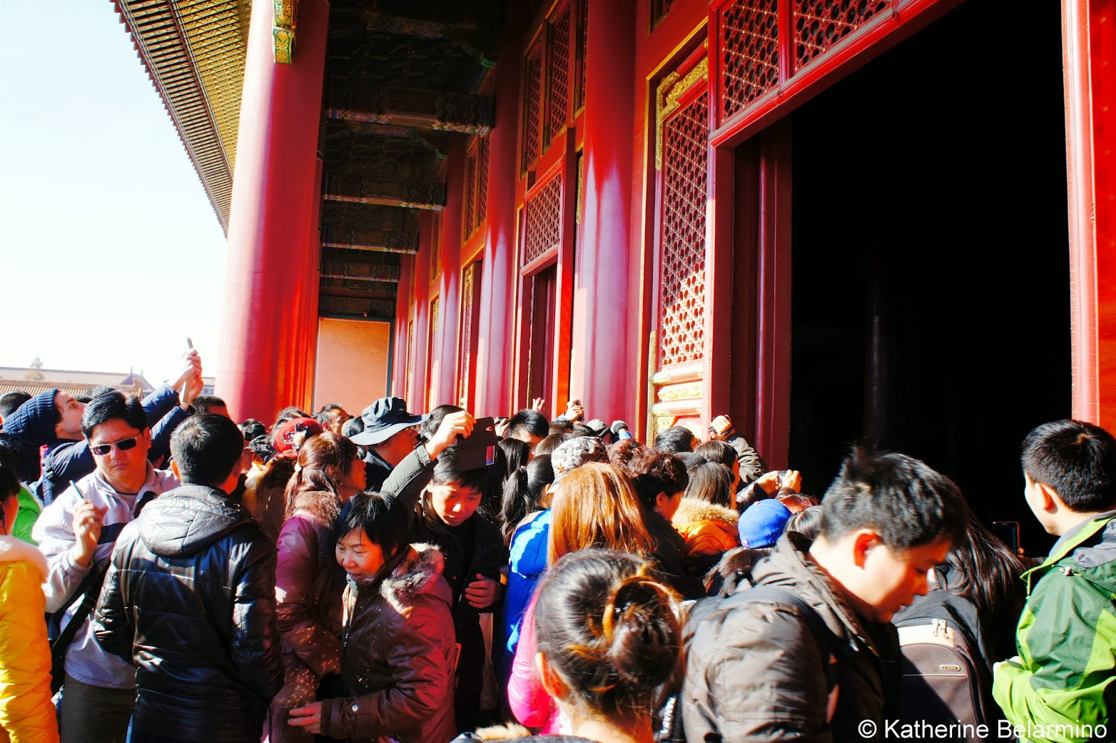 Forbidden City Crowds Beijing China