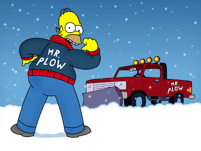 Homer Simpson Mr.Plow , Homer quita nieves, quitanieves