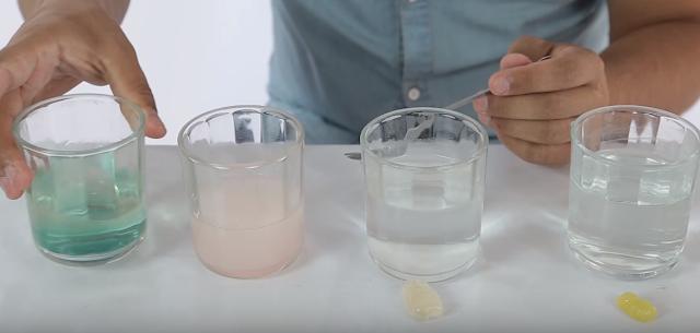 osito, gominola, disuelto, jugo, zumo, limon, vinagre