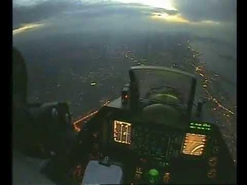 Crete Island by Night - Εντυπωσιακές εικόνες από F-16 block 52 plus -video