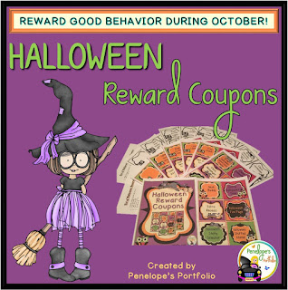 Halloween Reward Coupons Teaching Materials