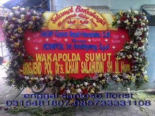 bunga papan happy wedding wakapolda sumut