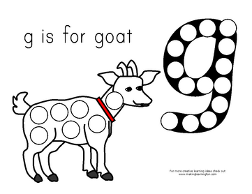Muck Monsters: Letter g: g is for goat:magnet page