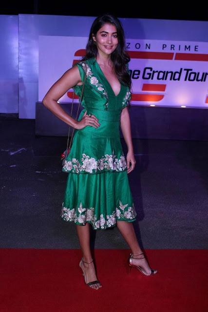Pooja Hegde Stills At Amazon Original The Grand Tour Red Carpet Screening