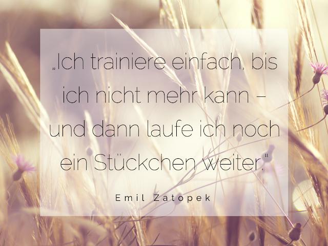 Ein schönes Zitat von Emil Zatopek zum Laufen