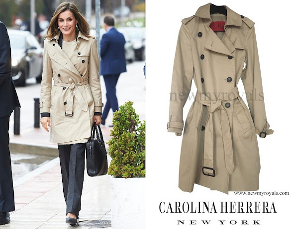 Queen Letizia wore CAROLINA HERRERA Trench Coat