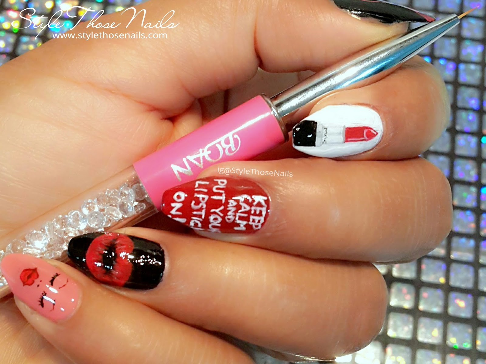 Style Those Nails Lipstick Nailart Lippie Nail Collaboration