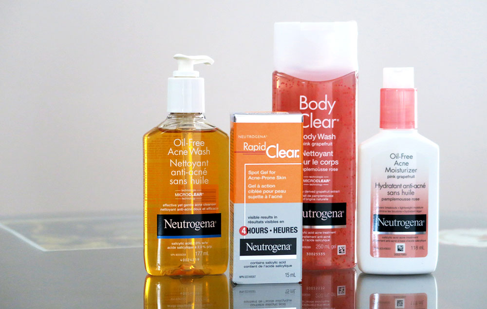 Clear Skin with Neutrogena - Oil-Free & Pink Grapefruit Solutions Review! - Lovely Complex