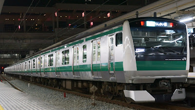 大崎駅停車中のE233系7000番台
