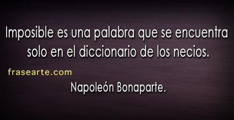 Napoleón Bonaparte en frases