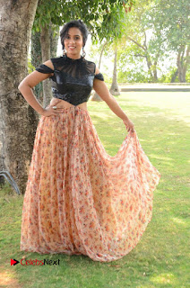 Actress Chetana Uttej Stills in Floral Long Skirt at Pichiga Nachav Movie Press Meet  0101.JPG