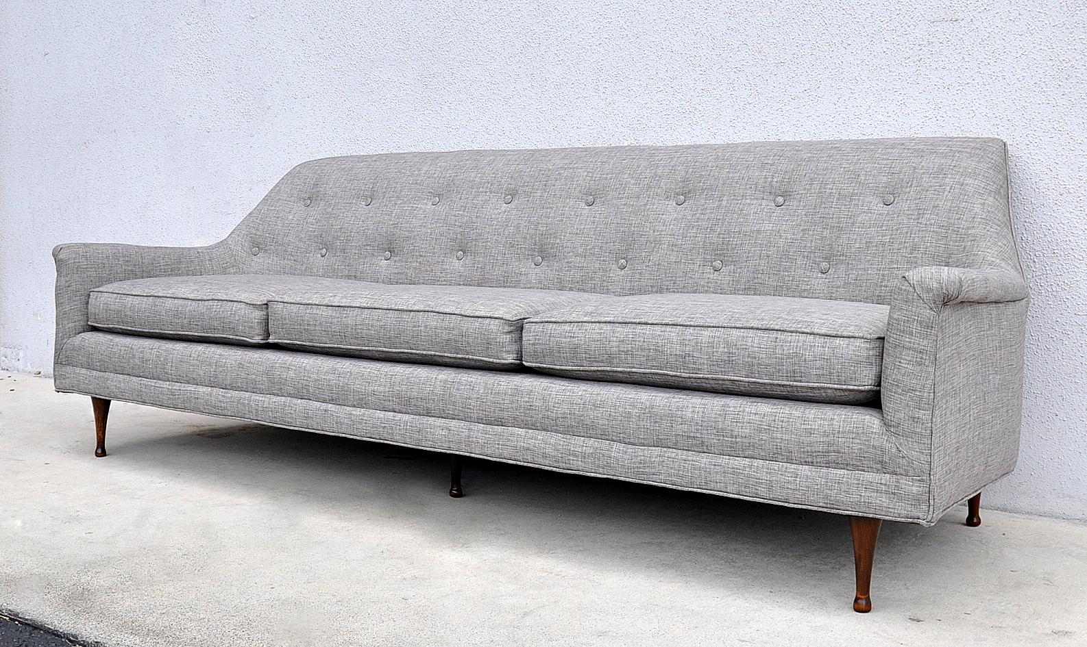 Berwick Mid Century Sleeper Sofa Round Banquette Select Modern