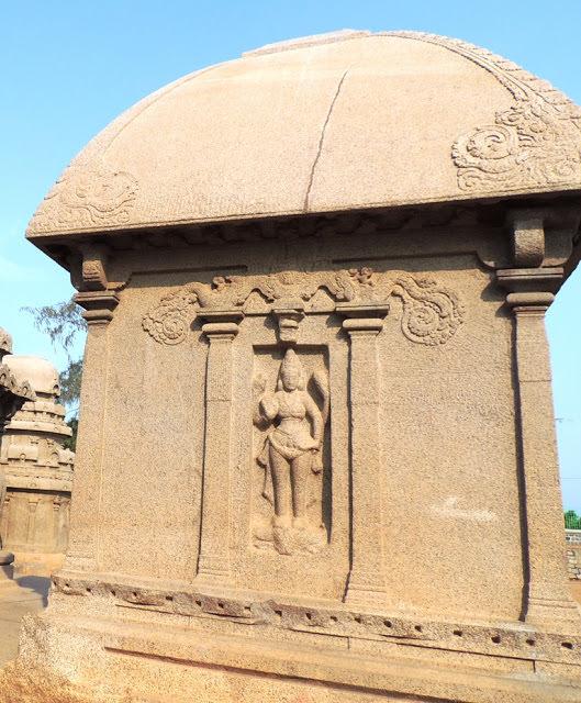 Mahabalipuram Monolithic Stone Chariots  - Mahishasura Mardini