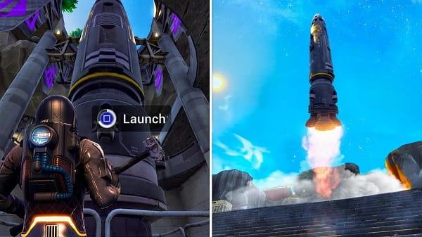 حدث اطلاق صاروخ لعبة فورت نايت