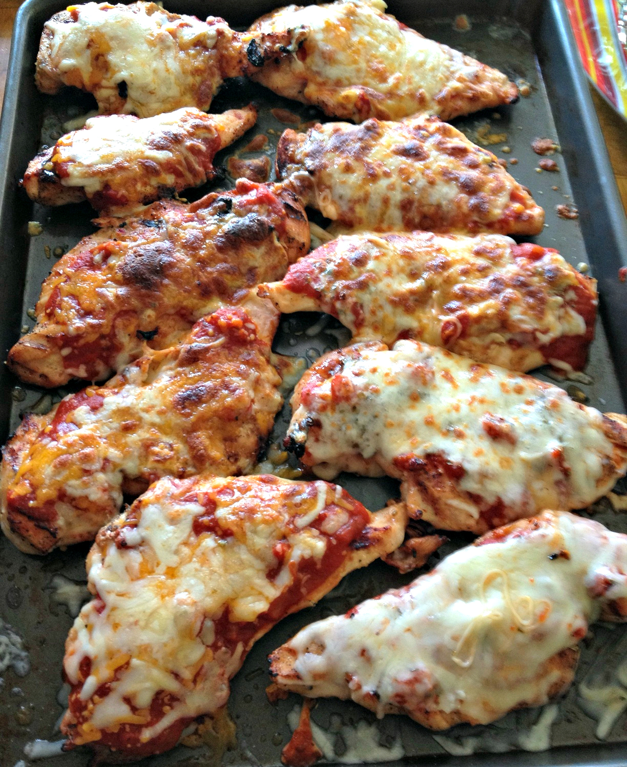 3 Ingredient Grilled Chicken Parmesan