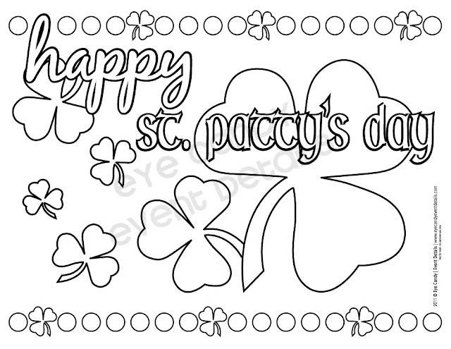 kids coloring page for st patty's day, st patty's day coloring sheets