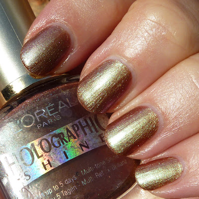 L'Oreal Holographic Shine 807 Nail Polish Swatch