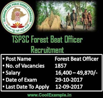 TSPSC Forest Beat Officer Recruitment