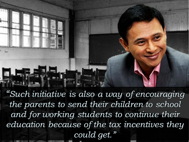 """Senator Sonny Angara urges his fellow legislators to pass a bill that will put relief on the taxes of parents who are burdened by high  college tuition fees.   As a  chairman of  the Senate committee on ways and means, access to tertiary education remains problematic and elusive and this is what burdens him.  Thus, his proposed measure on tax relief  would make college education accessible to Filipinos, especially those who can't qualify for scholarship grants.   He said the purpose of tax deductions is lowering the taxable income and increasing the net income money that they can use for their expenses. In that way, the money they save from the said law can be utilized for their basic needs and for sending their kids to school.  Angara said that his co-senators should not regard the tax proposal as a revenue loss but as a profit knowing that our country will produce graduates that can lift our economy in the near future. READ MORE: Explosions at an Ariana Grande concert in Manchester, England caused a """"number of confirmed fatalities and others injured,"""" police said late Monday. """"Two loud bangs"""" were reported at approximately 10:45 p.m., just after the concert had finished. The cause of the blasts was not immediately confirmed. A spokesman said Grande, who was performing at the arena as part of her """"Dangerous Woman"""" world tour, was """"okay"""" and added, """"we are further investigating what happened."""" Witnesses described panic as concertgoers rushed to get out of the arena. Video from inside the arena showed people screaming as they made their way out amid a sea of pink balloons. Explosions at an Ariana Grande concert in Manchester, England caused a """"number of confirmed fatalities and others injured,"""" police said late Monday.   """"Two loud bangs"""" were reported at approximately 10:45 p.m., just after the concert had finished. The cause of the blasts was not immediately confirmed.    Fake posts and misleading news titles are rampant on the internet especially on social media. I"""