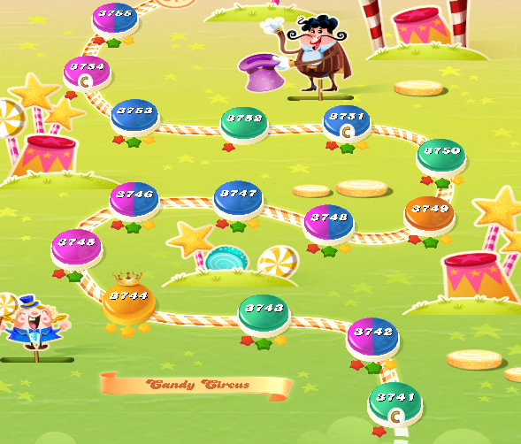Candy Crush Saga level 3741-3755