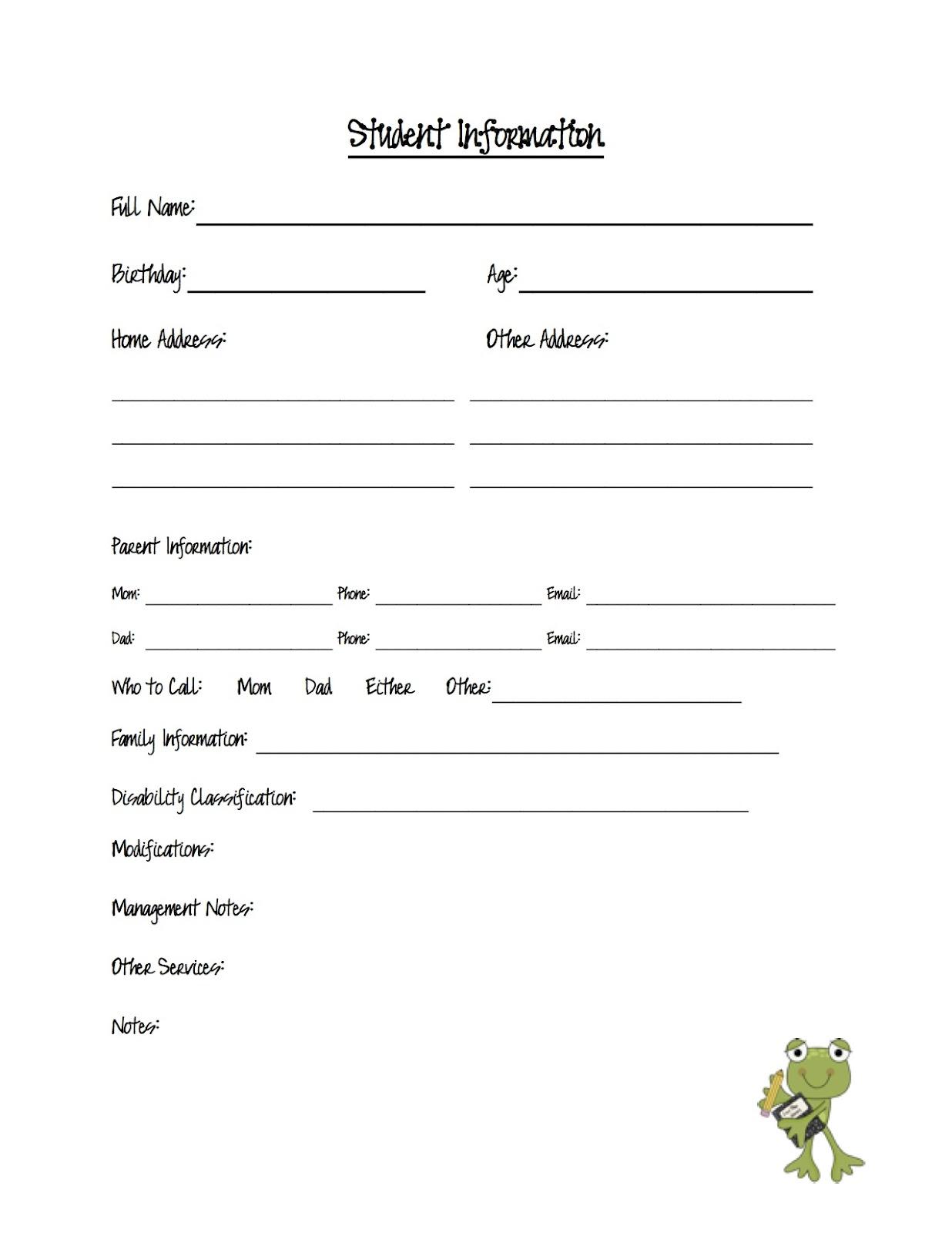 Contact Info Sheet Template sheet template word plantemplate info – Contact Info Sheet Template