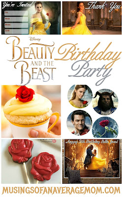 beauty and the beast 2017 party printables