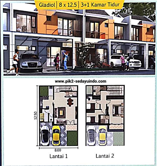 Cluster TAMPA rumah PIK 2 dijual tipe Gladiol