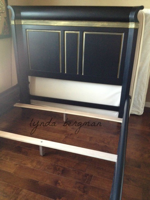 Painting Jackie S Bedroom Furniture Black With Metallic Gold Trim