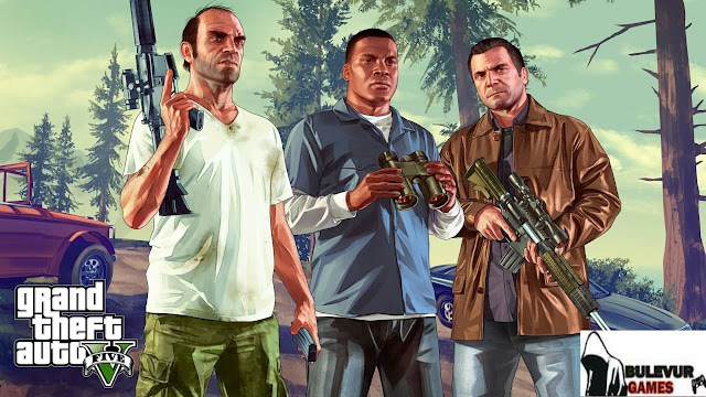 image of Michael, Trevor, and franklin in grand theft auto v