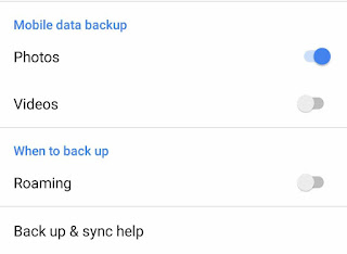 Enable mobile data backup