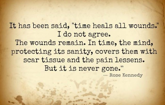 How time heals all wounds relates
